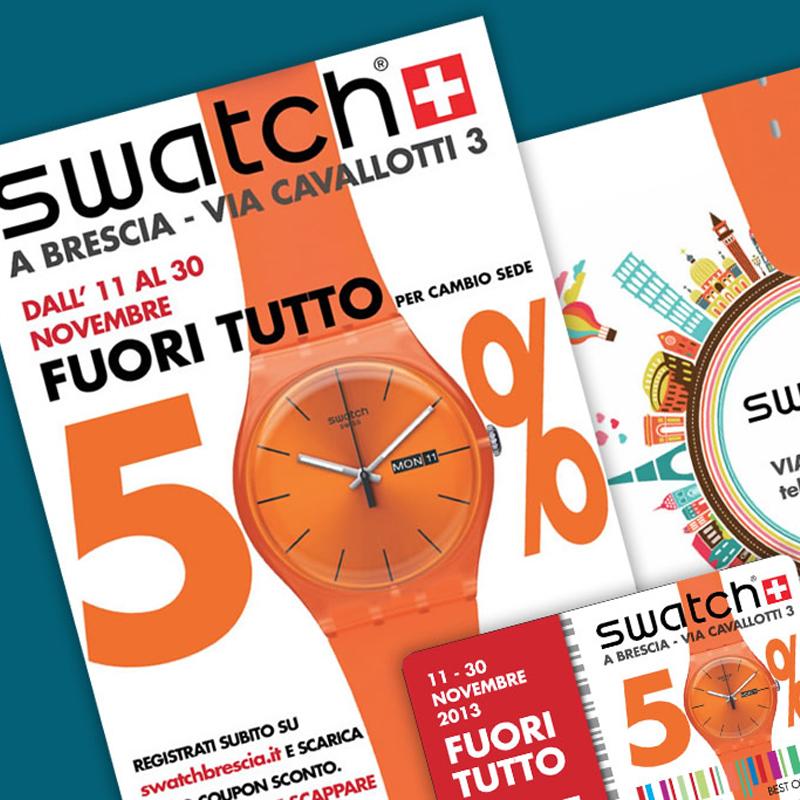 Swatch Brescia, campagna in chiave pop
