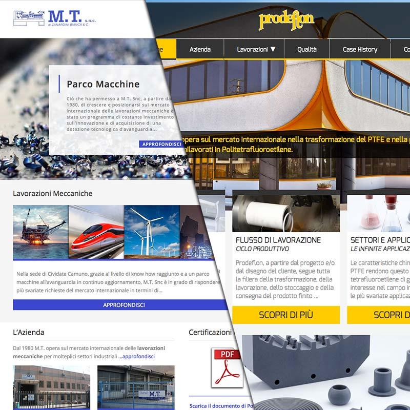 Siti web per aziende e industrie